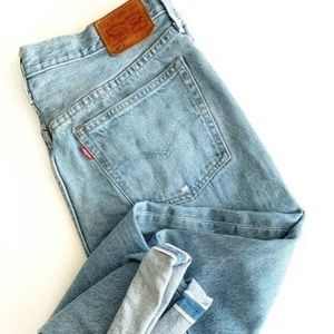 Womens Levi 501 Straight Selvedge Jeans 31
